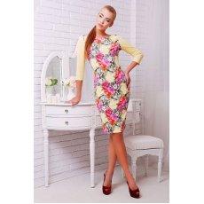 Цветы-квадраты платье Лоя-1 д/р NCG9959