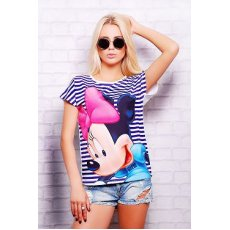 Полоска Minnie футболка Кимоно NCG10636