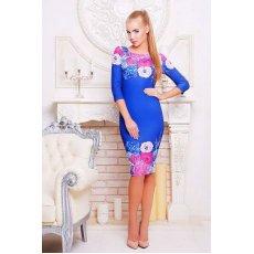 Цветы синий платье Лоя-1Ф д/р NCG9957