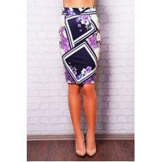 Сиреневый ромб юбка мод. №14 Оригами NCG9916