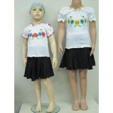 Вышиванка девочка пинье-кулир NCL455