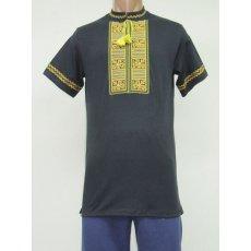 Рубашка мужская вышивка интерлок NCL625
