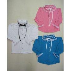 Блуза Арлекино длинный рукав фуликра кружево NCL766