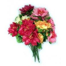 """Искусственные цветы """" Лотос """" большой"""