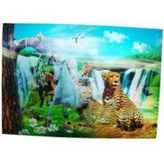 """Салфетка пластиковая """" 3D """", Леопард"""