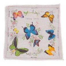 "Носовой платок "" Бабочки "" в розницу"