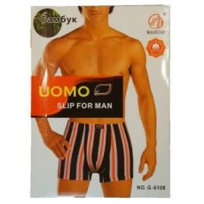 """UOMO """"G-6109"""" бамбук ,боксеры мужские"""