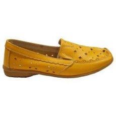 """Мокасины летние """" Zojas Shoes """" 8202/1 Yellow оптом"""